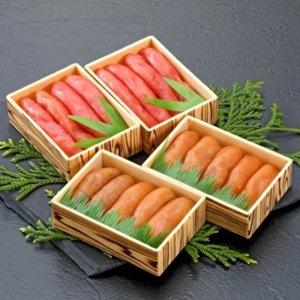 自慢の前浜たらこ2種類食べくらべセット(計800g) 寄附金額1万円(北海道鹿部町)