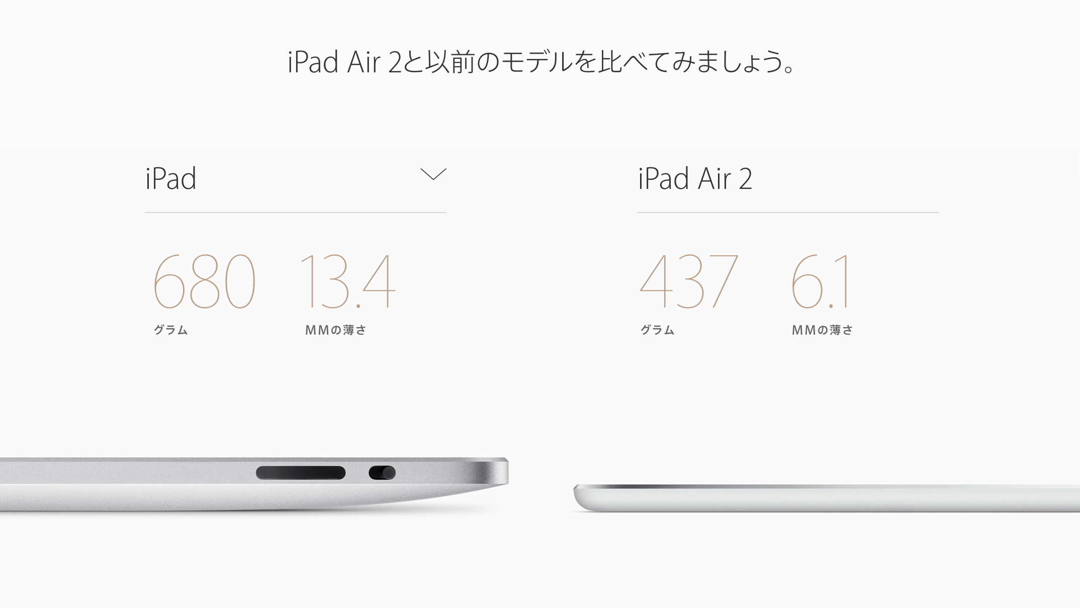 焼津市ふるさと納税返礼品 iPad airの薄さ比較