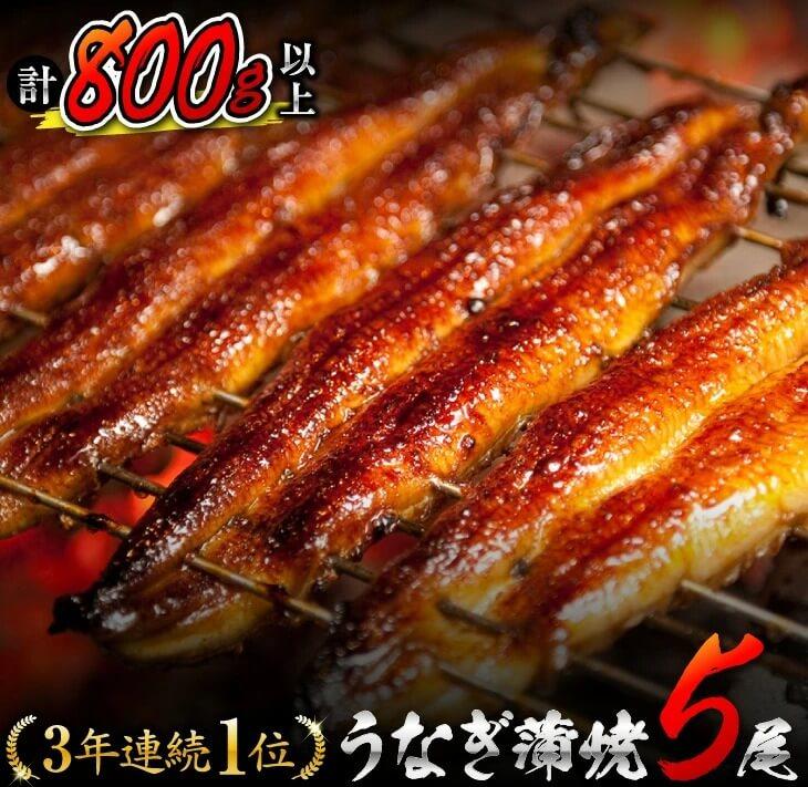 ★3年連続!!第1位獲得★うなぎ蒲焼(長焼5尾入)