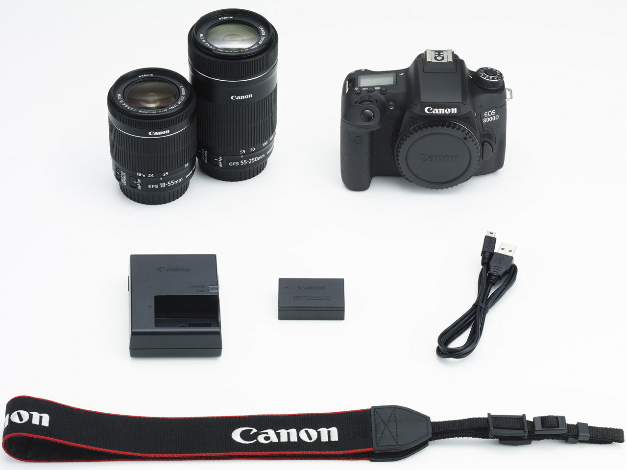一眼デジタルカメラ EOS8000D ダブルズームキット