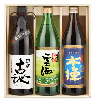 雲海酒造 本格焼酎3本セット 寄附金額 10,000円 (宮崎県宮崎市)