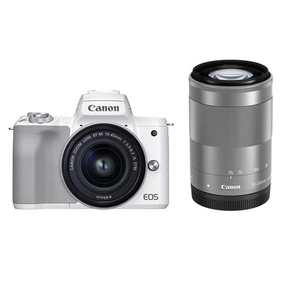 ミラーレスカメラEOS Kiss M2・ダブルズームキット(ホワイト) イメージ