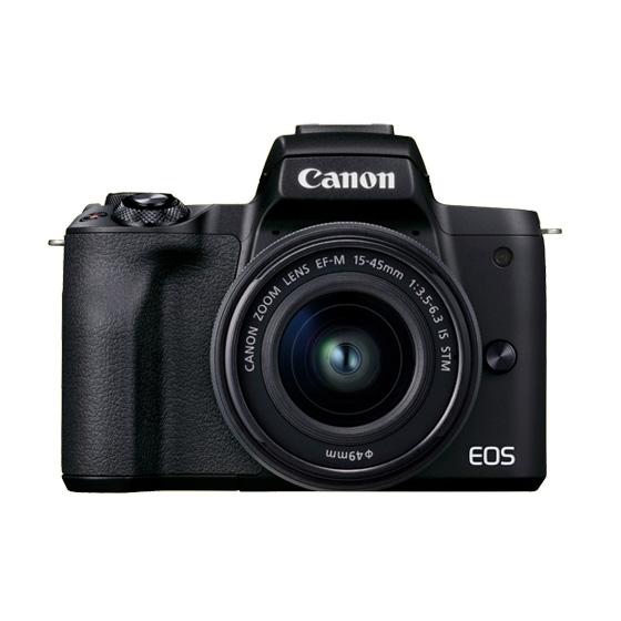 ミラーレスカメラ EOSKissM2・レンズキット(ブラック)