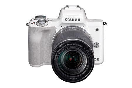 キヤノンミラーレスカメラ(EOS Kiss M EF-M18-150 IS STM レンズキット ・ホワイト) イメージ