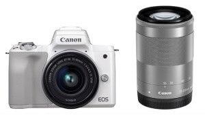 キヤノンミラーレスカメラ(EOS Kiss M・ダブルズームキット・ホワイト) イメージ