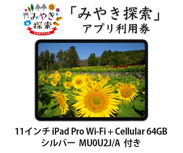 iPad Pro 11インチ Wi-Fi + Cellular 64GB シルバー MU0U2J/A