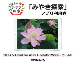 みやき探索アプリ利用券 (10.5インチiPad Pro Wi-Fi + Cellular 256GB – ゴールド MPHJ2J/A 付き) 寄附金額330,000円