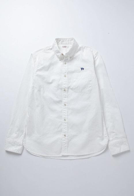 [ハリウッド ランチ マーケット]ラクダ刺繍 オックスフォード ボタンダウンシャツ