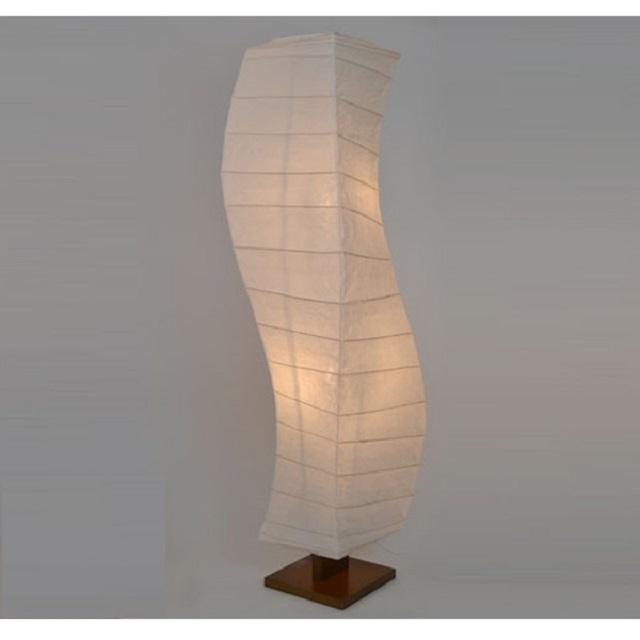 和紙照明フロアランプ 揉み紙