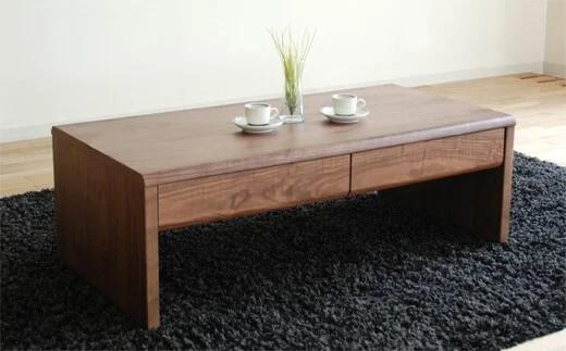 リビングテーブル「NEWベルグ Lテーブル」ブラウン