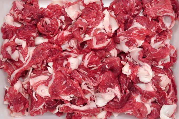 2位:土佐和牛(黒毛) 切り落としすき焼き用 1kg 寄附金額 19,000円 (高知県香美市)