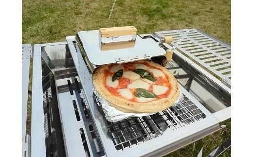 アールグレイ 『燻製・ピザ窯用ユニット』 + 『プロ大型BBQコンロ 囲炉裏Ⅰ』のセット イメージ