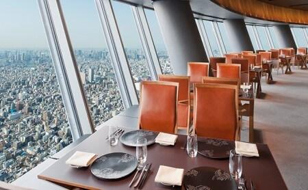 東京スカイツリーSky Restauran634ランチorディナーペア利用券(天望デッキ入場券付)
