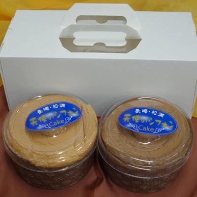 天使のシフォンケーキ〈プレーン・チョコ〉2個セット 寄附金額5,000円 イメージ