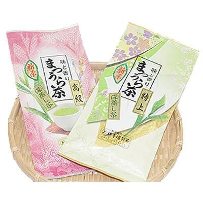 松浦茶セット(特上100g×1 高級100g×1) 寄附金額5,000円 イメージ