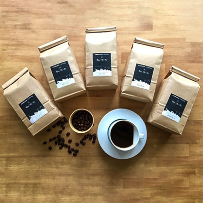 【大容量】KASUGAコーヒー×Nanの木 おうちカフェ飲み比べセット たっぷり1.5kg【豆】寄付金額14,000円 (福岡県春日市)