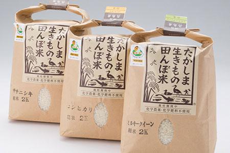 グリーン藤栄 生きもの田んぼ米食べ比べセットA 寄附金額17,000円(滋賀県高島市)