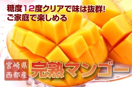 ご家庭で楽しむお得な西都産完熟マンゴー 寄附金額20,000円(宮崎県西都市)
