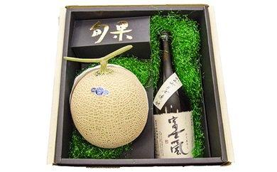 小山町産そば焼酎と日本一のクラウンメロンセット 寄付金額20,000円(静岡県小山町)
