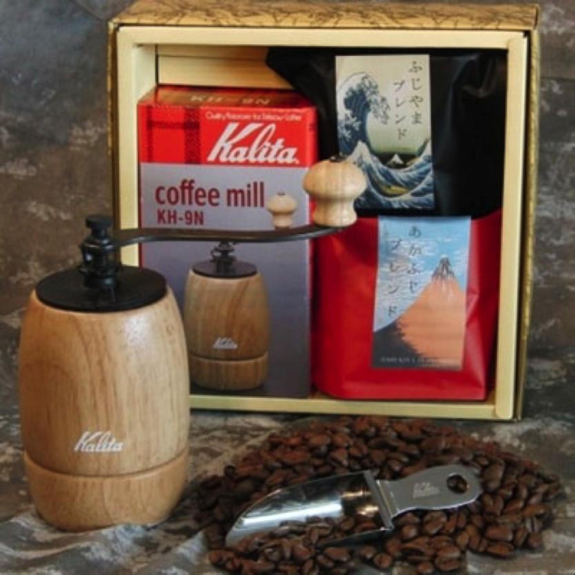 コーヒーミル&ふじやまコーヒー豆セット 寄付金額20,000円(山梨県富士吉田市)