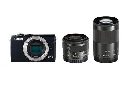 ミラーレスカメラ EOS M100 ダブルズームキット(ブラック)寄附金額300,000円(神奈川県綾瀬市)