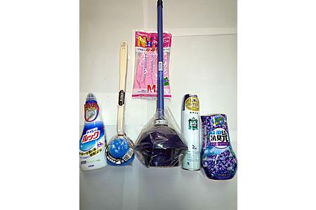 トイレ掃除道具6点セット 寄附金額10,000円(岐阜県七宗町)
