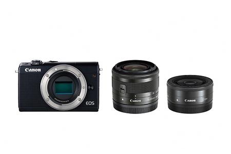 ミラーレスカメラ EOS M100 ダブルレンズキット(ブラック)寄附金額270,000円(神奈川県綾瀬市)