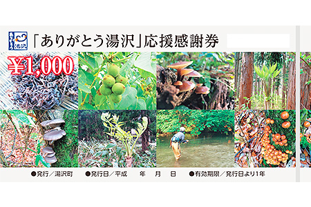 「ありがとう湯沢」応援感謝券 寄附金額6,000円 イメージ
