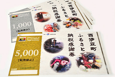 西伊豆町ふるさと納税感謝券 寄附金額10,000円 イメージ