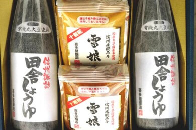 喜多屋の手造りみそ醤油プレミアムセット(長野県岡谷市)寄附金額20,000円 イメージ