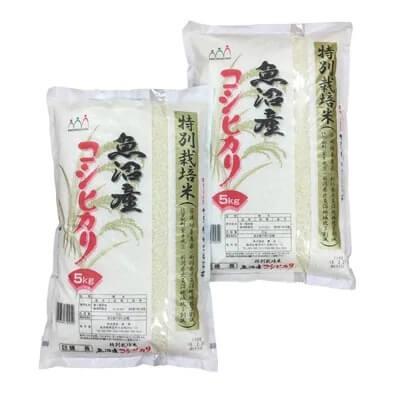 魚沼産コシヒカリ特別栽培米10kg(5kg×2袋)