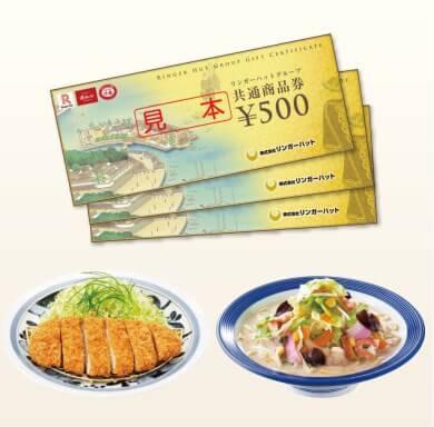 リンガーハットグループ共通商品券16枚 寄附金額20,000円(静岡県小山町) イメージ