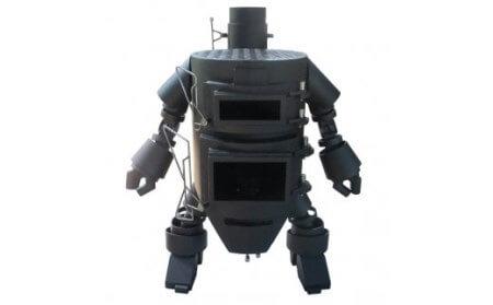 ロボット型薪ストーブ(サムライ)