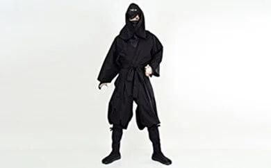 大人用袴式本格派忍者衣装(黒)  イメージ