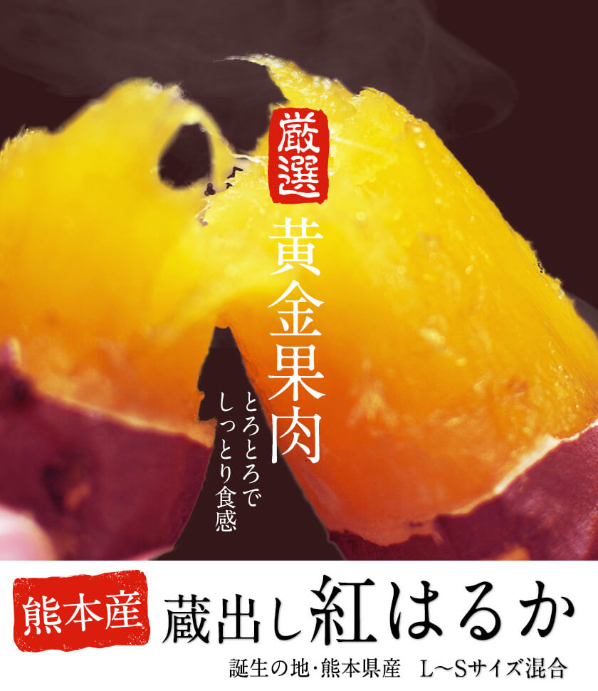 誕生の地熊本県産 蔵出し紅はるか(L-Sサイズ混合) 寄附金額10,000円(熊本県御船町) イメージ