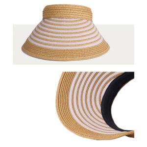 天然 クリップバイザー 婦人 帽子 寄附金額10,000円