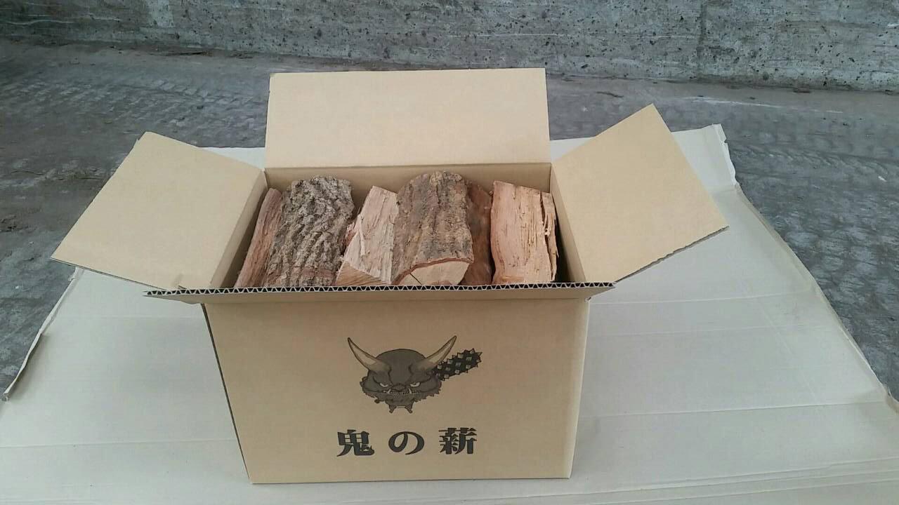 鬼の薪3箱(広葉樹ミックス中太) 寄付金額20,000円 イメージ