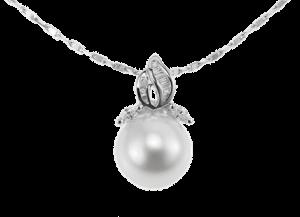 パールペンダント(K18WG)【宇和島産あこや真珠】