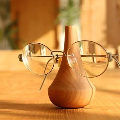 【Hacoa】木製メガネスタンド 『Glasses Stand Swing』 チェリー