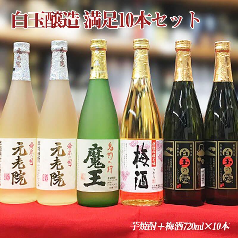 白玉醸造 満足10本セット(720ml×10本)