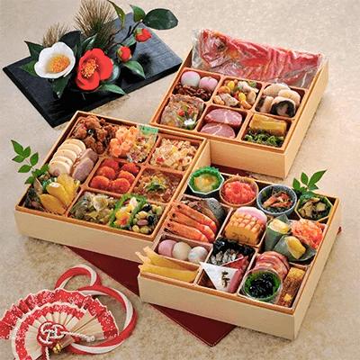 【2020年新春】金目鯛入り指宿三段重特製おせち(薩摩のたまて箱) イメージ