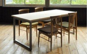 【国産ヒノキ・無塗装】M8 フローリングテーブル(W180)