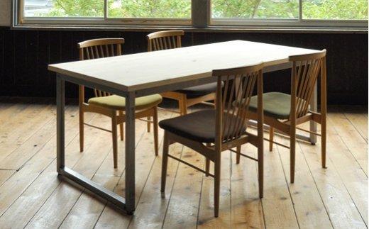 【国産ヒノキ・無塗装】M8 フローリングテーブル(W180) イメージ