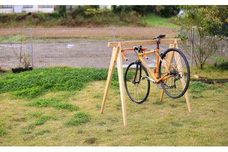 桧製自転車ラック 宿輪木 イメージ