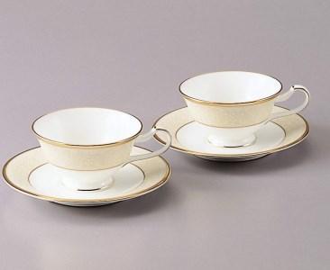 ホワイトパレス ティー・コーヒー碗皿ペアセット