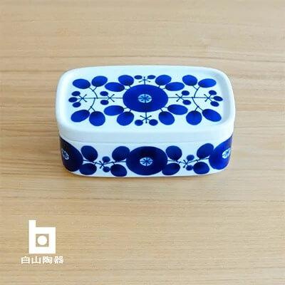 ブルーム バターケース 【白山陶器】