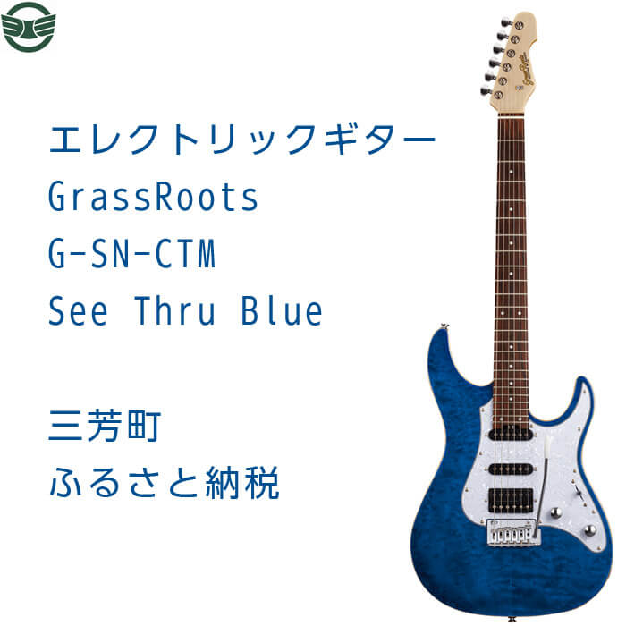 エレクトリックギター G-SN-CTM See Thru Blue イメージ