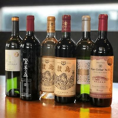 甲斐市産赤白ワイン飲み比べ 6本セット(赤×3本、白×3本)