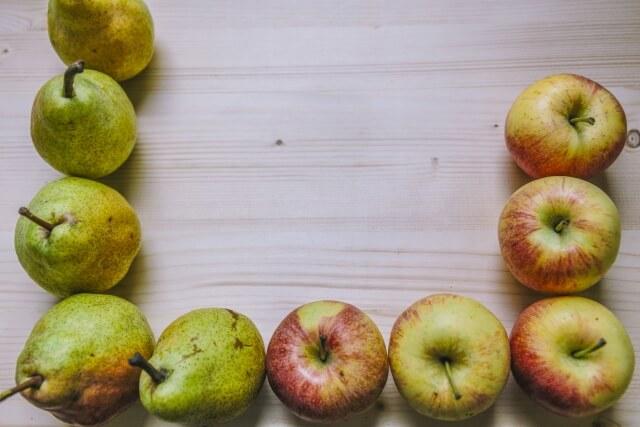 ラ・フランスとふじりんご詰め合わせ 3kg
