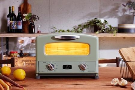 【約3~4ヶ月後お届け】アラジン グラファイトグリル&トースター【4枚焼】(グリーン) イメージ